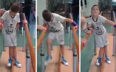 Hrabri Radivoje: Dečak prohodao nakon tretmana matičnim ćelijama